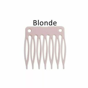 X4  Hair Wig Plastic Combs Clips For Wig Caps Blonde Colour Combs For Making Wig
