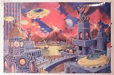 "Anton Brzezinski vintage poster by frank r paul 23.50"" X 35.50"" NOS (b370)"