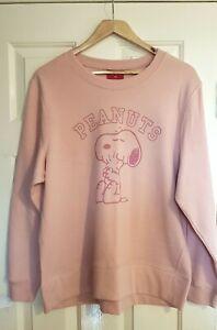 BNWT Peanuts Snoopy womens pink sweat top BNWT