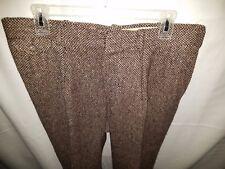 Vtg. Polo Ralph Lauren Tweed Herringbone Pleated Pants Suspender Buttons 34X27