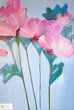 FLORAL IMPRESSIONISM NEW PAINTING ON CANVAS ORIGINAL MODERN FLOWER ART DECOR