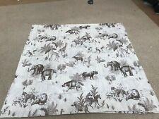 Children/'s Safari Animals Wildlife Elephant Lion 100/% Cotton Fabric 145cm Wide