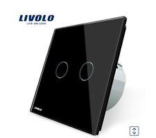 Touch roll cargar interruptor joulusien Curtain negro vidrio livolo vl-c702w-12