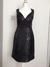 bcbg maxazria Silk Animal Print Dress Size UK 8