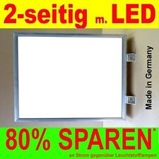 LED Leuchtwerbung 2-seitig beleuchtet 400 x 600 x 138 mm Aussteller Nasenkasten