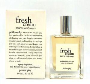 Philosophy Fresh Cream Warm Cashmere 2.0 oz EDT Spray NIB Authentic