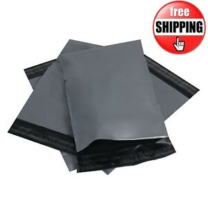 """100 BAGS 12""""X 16"""" GREY STRONG  MAILING POLY POSTAGE POSTAL SELF ADHESIVE QUALITY"""