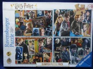 Harry Potter Puzzles. 4 X 100 Piece 36 x 26cm Ravensburger Puzzles. For Ages 5+