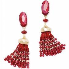 NWOT Kendra Scott Red Dove Statement Earrings