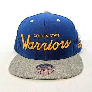 Golden State Warriors MN NBA Heather Special Script Snapback Blue Gray Hat
