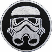 Star Wars Patch Stormtrooper Helmet Mask Embroidered Iron / Sew On T Shirt Badge