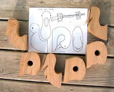 Cut-outs Duck Gun Rack Wood Carving Blanks - Two Pieces Butternut Carve Shotgun