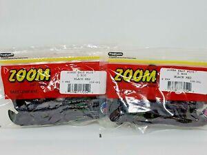 2 Packs Zoom Z-Hog Softbaits Super Salt Plus Black Red