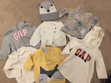 Next & Gap Girls 6-9 / 9-12 Months Winter Bundle Of Jumpers, Cardigans And Dress