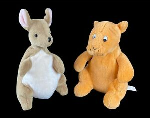 Lot of 2 Disney Gund Classic Pooh - Kanga & Tigger Plush Beanie