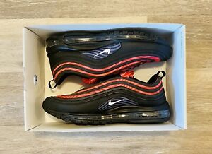 Nike ID Air Max 97 'Nike By You' Black Grey Red Pink DJ3181-991 Men's Size 12