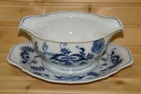 Blue Danube BLUE DANUBE Gravy Boat with Attached Underplate |  Japan