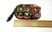 Vera Bradley Quilted Zip Coin Purse Floral Cosmetic Lipstick Bag