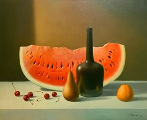 EVGENI GORDIETS ORIGINAL OIL PAINTING SURREALISM ART LISTED SOTHEBY'S ARTIST