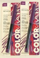 (2) Revlon Color Change Colorstay Lip Liner, 104 Violet Rush