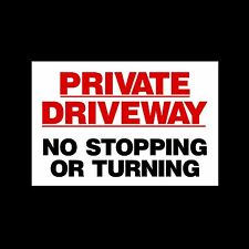 Private Driveway No Stopping - 3mm Metal Sign - 3 Sizes - Weatherproof (MISC44)