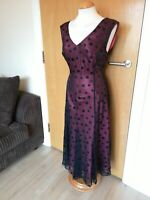 Ladies CC COUNTRY CASUALS Dress Size 14 Red Black Spotted Fit And Flare Party