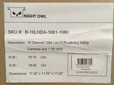 Night Owl 8ch 1Tb Dvr Security System w/ 4x Cameras B-10Lhda-1681-1080 ✅New ✅Wty