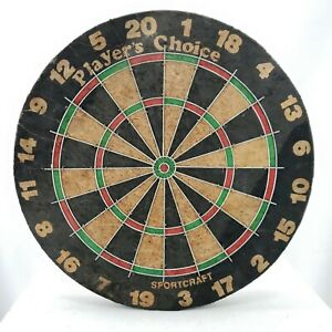 Vintage Players Choice Sportcraft Dart Board