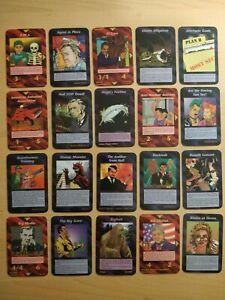 FULL 200 Card DIFFERENT UNLIMITED Commons JEU ILLUMINATI INWO GAME 1995 epidemic