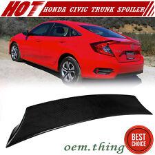 New listing Carbon Fit FOR HONDA Civic X 10th Sedan V Style Rear Trunk Spoiler EX-L 2020 DX