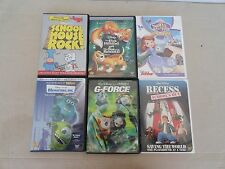 lot of 6 disney children dvd 7 movies the fox & the hound 1&2 monsters inc  #7