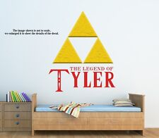 Personalized Legend of Zelda Triforce Wall Decal (Removable and Replaceable)