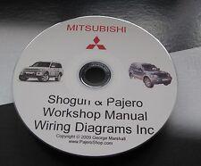 SHOGUN Mitsubishi  WORKSHOP & 2.8 TD 4M40 ENGINE MANUAL & WIRING DIAG