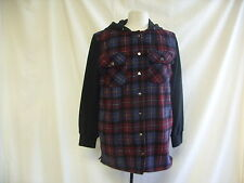 Ladies Shirt - Topshop Size 10, 49% Wool, Warm, red & blue check - 1422