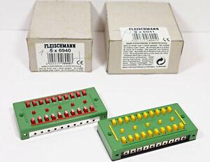 Fleischmann 6940, 6941 Verteilerplatte + Klemmenplatte für 10 Anschlüsse *OVP*