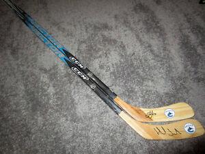 DANIEL & HENRIK SEDIN Vancouver Canucks Autographed SIGNED Hockey Sticks w/ COA