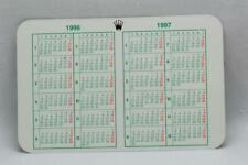 Genuine Rolex Calendar Card 1996 - 1997