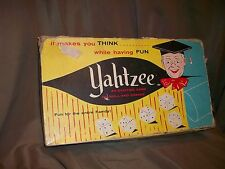 *Imperfect* Vintage 1956 Yahtzee Game E S Lowe #950 Classic Family Dice Game