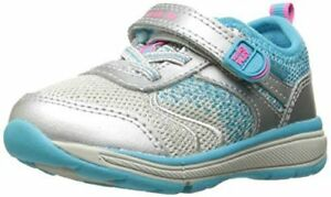 NIB STRIDE RITE Athletic Shoes M2P Ellie Silver Aqua Blue 8.5 9.5 10.5 XW