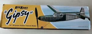 VINTAGE KEIL KRAFT MODEL AIRCRAFT KIT - GIPSY  FLYING MODEL 40 INCH WING SPAN