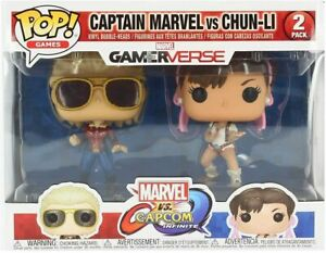 Funko 22767 TV Capcom Captain Marvel Vs Chun-Li Pop Vinyl Figure
