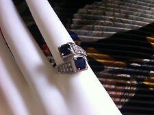 Gorgeous Antique 18k Gold 1.75 ct blue sapphires & Diamonds Ring