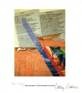 LARRY RIVERS & JOHN ASHBERY signed by both limited edition print 12/150