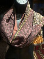 Vintage Silk Paisley Scarf Shawl