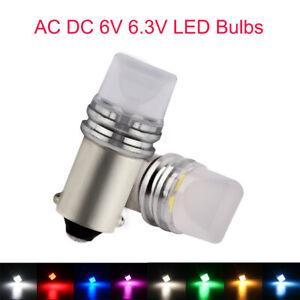 100Pcs AC DC 6V frosted LED BA9S T4W 1889 1895 1893 64111 LED Bulbs Non-polarity