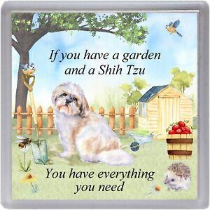 "Shih Tzu Dog Coaster (No 2) ""If you have a garden ..."" Novelty Gift by Starprint"
