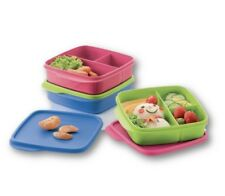 New Tupperware Diveided Square Lunch Box 3pc, 550ml each