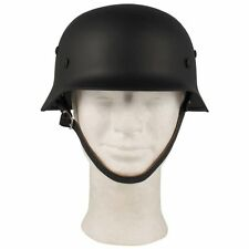 WW2 German Army High Quality M35 Helmet - Black - Beatiful Reproduction - New