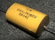 4  Polypropylene 4.7uf 160V capacitor PW4U7k160V ICW 4U7 axial lead 5uf