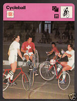 CYCLEBALL Cycling Football Bicycle Sport Game Photo 1977 SPORTSCASTER CARD 14-04